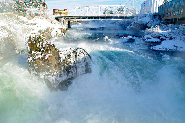 Spokane Falls, Riverfront Park - New Years Day 2011 by Fotografia da David
