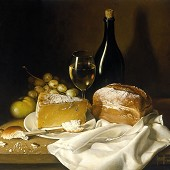 Thumb_BRED CHEESE AND WINE 51x56 cms - oil on canvas 1994